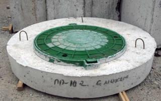 Крышка бетонная на колодец: назначение и применение