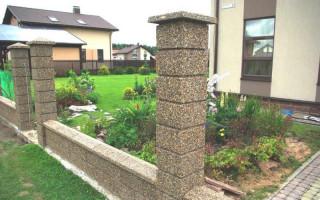 Как сделать бетонные столбы для забора своими руками