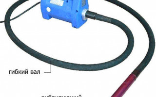 Технические характеристики вибратора для бетона