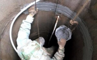 Чистка и ремонт бетонных колодцев