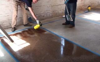 Чем лучше покрасить бетон и какова техника окрашивания
