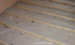 Как фиксировать лаги на бетонном полу