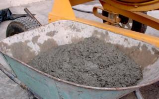 Готовим бетон: пропорции в ведрах
