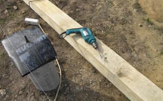 Как закрепить деревянный столб на бетоне: бетонирование столба и монтаж на основание