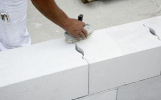 Устройство стены, пола и перекрытия из газобетона