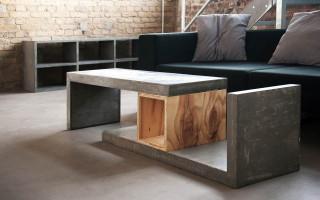 Разнообразие мебели из бетона