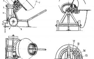 Как сделать бетономешалку своими руками; наглядные инструкции и чертежи