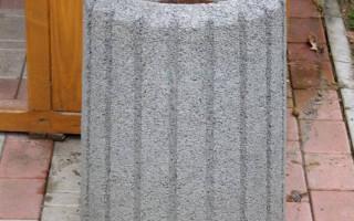 Уличные урны для мусора из бетона: достоинства и недостатки