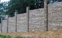 Бетонный забор, наборный, сборный, декоративный